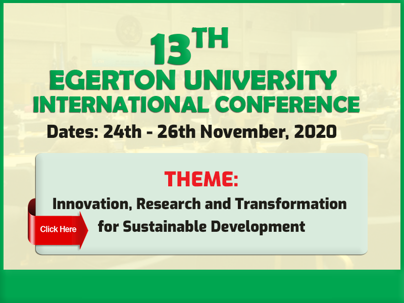 13th Egerton University International Conference